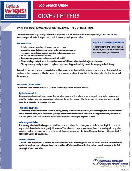 Job Search Guides - Northwest Michigan Works!