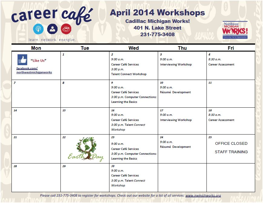 april 2017 workshop calendar pdf