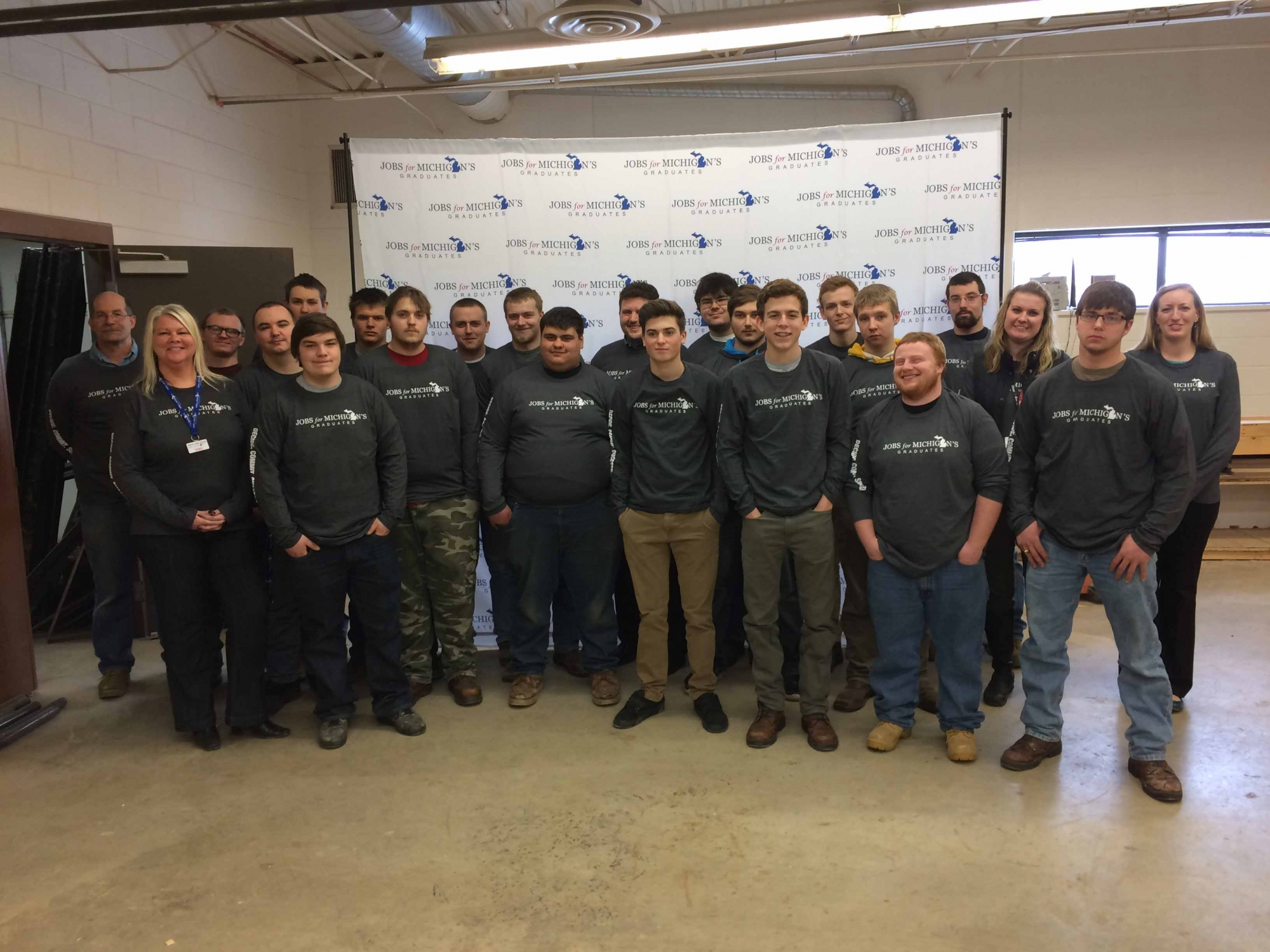Jobs for michigans graduates kicks off in char em isd jobs for michgans graduates students in the char em isd career and technical education welding program at east jordan 1betcityfo Images